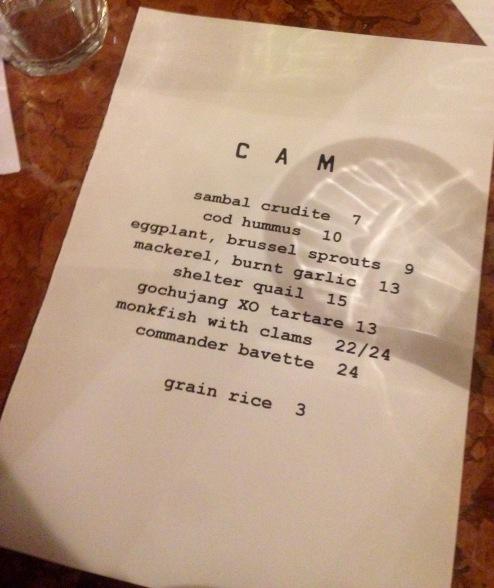 restaurant : cam