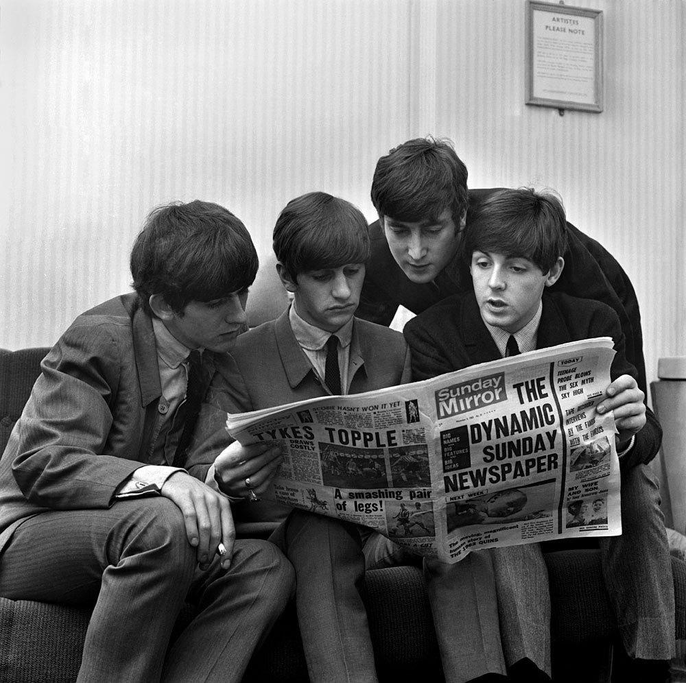 revue de presse, Beatles, journaux, féminisme, médias